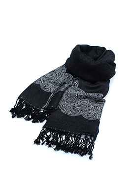 REVERSE TWO-TONE SCARF