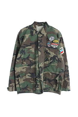PATCHED CAMOFLAGE JACKET