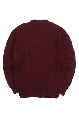 BASIC CABLE SWEATER