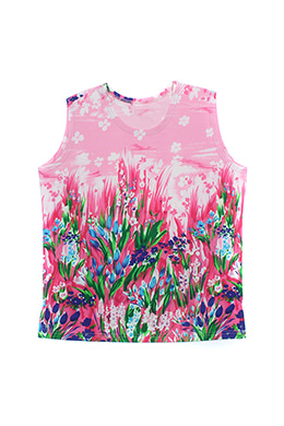 PRINTED PINK SLEEVELESS