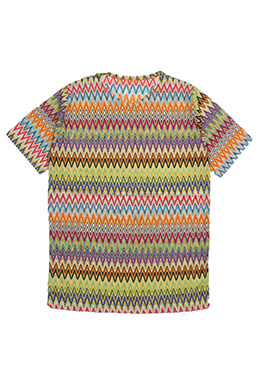 MULTI COLOR ZIG-ZAG TOP