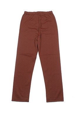 ORANGE HERRINGBONE PATTERNED PANTS